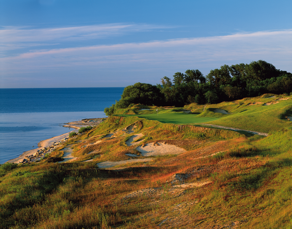 Whistling Straits' sensational 17th is one of countless reasons it's one of the Midwest's most magical links courses. (Kohler photo)